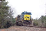 CSX 7577 waiting on the main at the north end