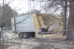 The other half of the trailer split by CSX 238