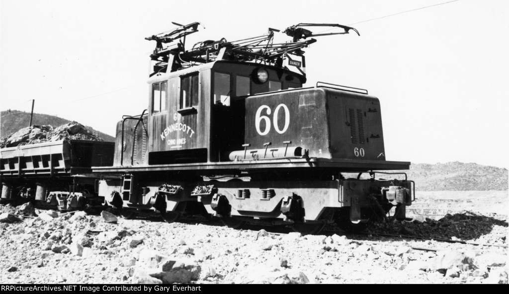 KCCX GE 75-ton #60 - Kennecott Co, Chino Mines Division