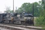 NS 9481 swings onto the Toledo line