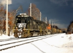NS 8836 leads a Westbound NS empty coal train at Gore Rd
