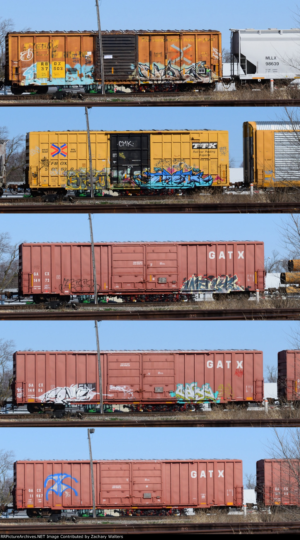 RBOX FBOX GACX Boxcars