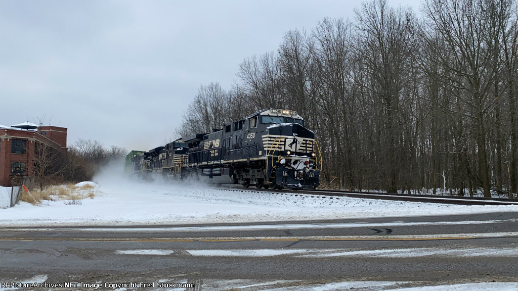 NS 4350 is moving this train in a hurry.