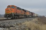 BNSF 7548 Drags the H-GALMEM out of Old Monroe Mo.