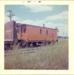 EJE 112 transfer wooden Caboose