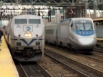 Waterbury Branch Train And Acela Express