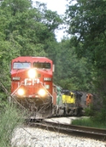 CP Detour train with 7 locomotives and 130+ cars