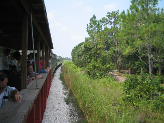 Looking toward the train