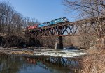High trestle over the Walloomsac River in North Hoosick, NY