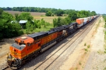 BNSF 4681 leading eastbound stacks