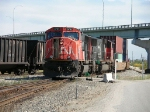 CN 5701 enters the yard with a double stack train