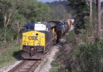 CSX 445 eastbound on a sunny Saturday morning