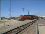 BNSF ET44C4 #3685 Leads a Local Intermodal at Commerce
