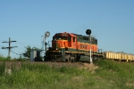 "BNSF 7126 pulls this Northbound ""Slot Machine"" ballast train through the signals"