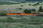 BNSF 5961-5967 New ES44AC GEVOs handle a northbound empty hopper train