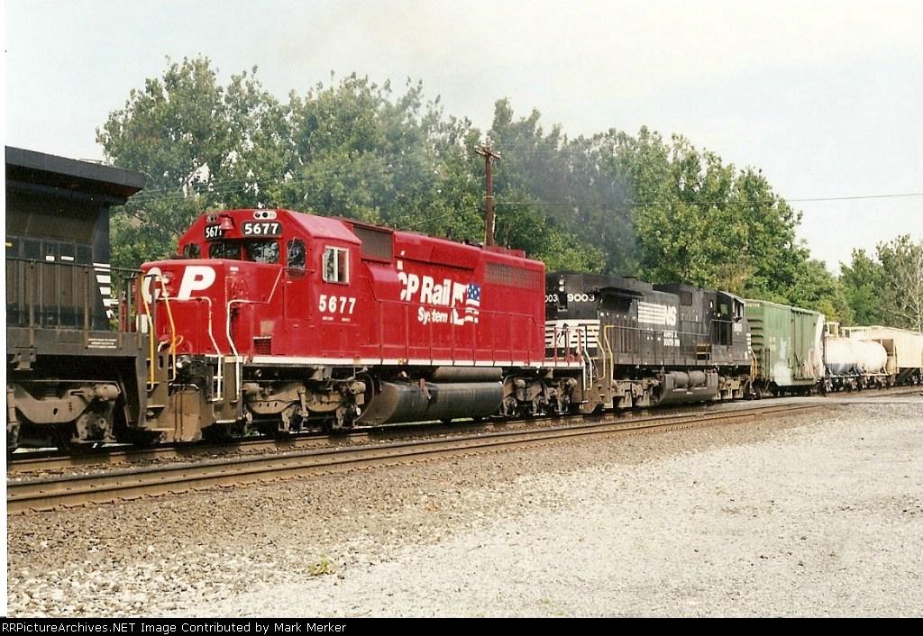 CP 5677 on train 556