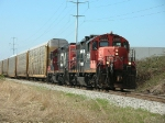 CN 7206 with empty autoracks