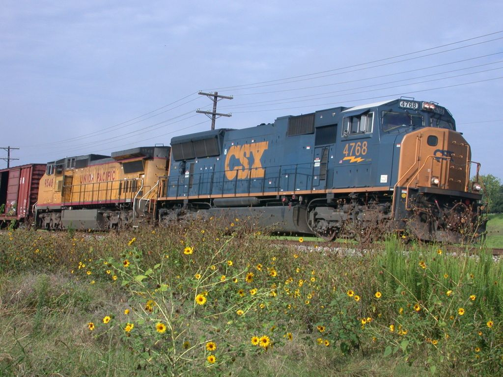 CSX 4768  22Aug2004  NB in SNEED with mixed-merchandise