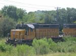 UP 3271  5Aug2004  Heads-up a gravel train NB at Anderson Lane in SNEED along the old MP tracks