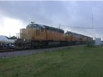 UP 3293  24Aug2004  NB with four engine power crossing Center Street
