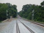 New south end of the double track