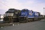 A Conrail blue Dash 7