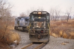 A typical weathered Norfolk Southern C40-8