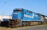 A Conrail blue C40-8