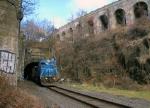 PRR 8416 beneath the Bergen Arches