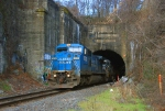 PRR 8416 emerging from the Bergen Tunnel