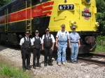 The CVSR crew posing in front of FPA4 6777