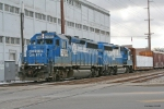 NS 3066 Ties down for lunch in Dowagiac, MI