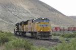 Eastbound stack train arrives