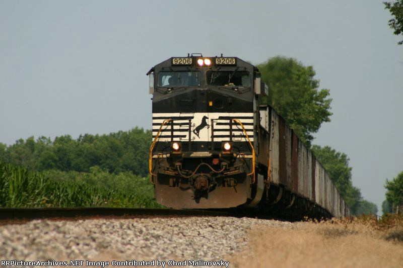 NS 9206 heads empties back to the Pokey
