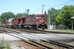 CP 9560 leads the lone CP train up the PM
