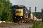 CSX 7533 is taking grain south on the C&O