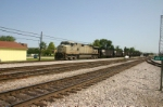 NS 9834 brings empties down from Sandusky