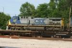 CSX 470 waits with a coke train