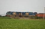 CSX 595 and 5376 is taking more coke west