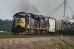 CSX 8471 leads a freight train