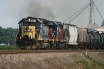 CSX 8471 leads a freight train