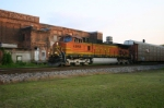 BNSF 4866 is headed into the mixing center