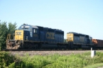 CSX 8838 has come up the Porter Branch to dump ballast