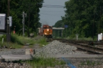 BNSF 5244 brings 26N through the siding