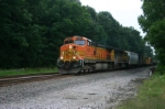 Q381 heads for the BNSF