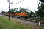 BNSF 7797 leads the St. Paul stacktrain