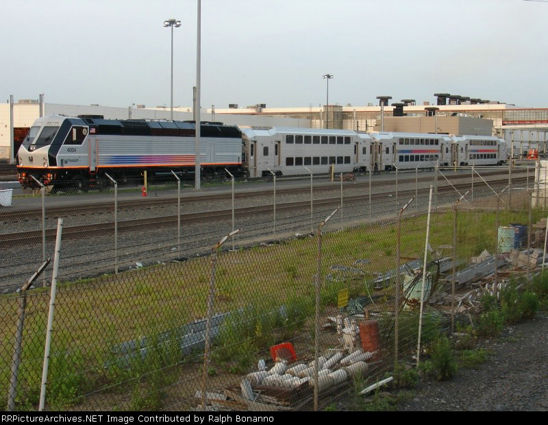 New NJT  trainset seen  at the MMC from over the fence at the CSX yard