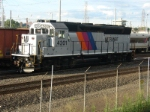 NJT GP40PH-2B 4201 sits by itself awaiting its next assignment