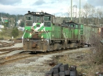 BNSF 3617 and 3651 - matching green switchers