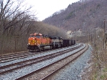 Eastbound coal train